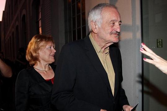 Magda Vašáryová s Milanem Lasicou.