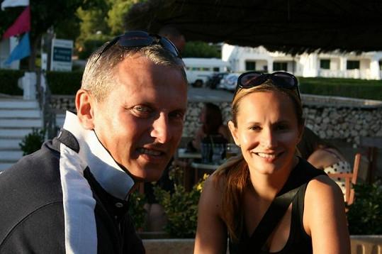Monika Absolonová s přítelem Vráťou na dovolené.