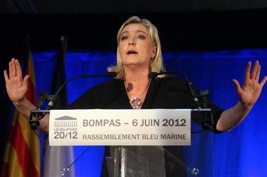 Francouzská nacionalistická politička Marine Le Pen