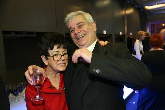 Petr Štěpánek se svou manželkou na starším snímku.