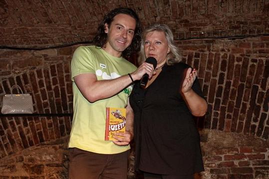 Richard Sacher s internetovou hvězdou Marií Pojkarovou.