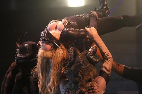 Madonna během vystoupení v New Yorku.
