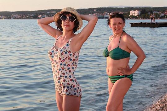 Andrea se svou seriálovou kolegyní Evou Režnarovou.