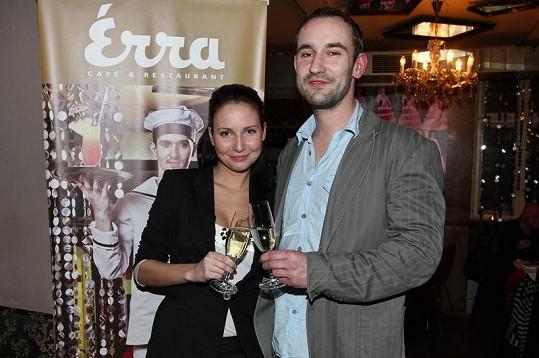 Veronika s kamarádem Jirkou Matějíčkem.