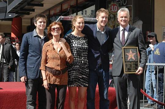 Susan Sarandon s rodinou.