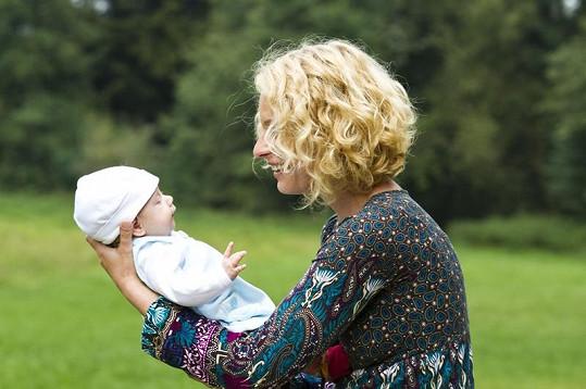 Kristina se svou dcerou Jasmínkou.