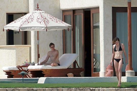 Milla Jovovich s manželem Paulem Andersonem.