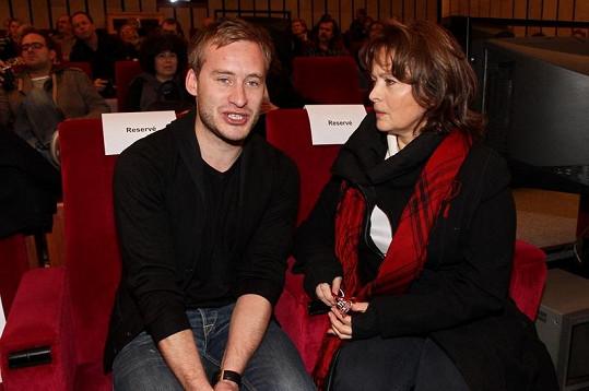 Šafránková s režisérem pohádky Vítem Karasem.