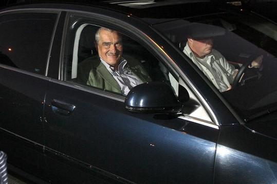 Havlovi přijel popřát i ministr zahraničí Karel Schwarzenberg.