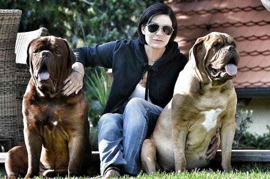 S Toníkem a Mášou (vpravo), která je už několik let v psím nebíčku.