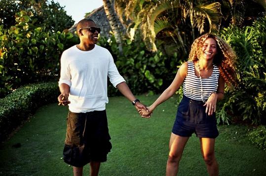 Zpěvačka s manželem Jay-Z.