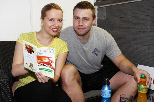 Kateřina Kristelová a Martin Tůma po cvičení.