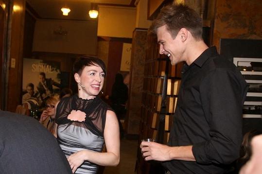 Táňa Vilhelmová a Vojta Dyk se spolu skvěle bavili.