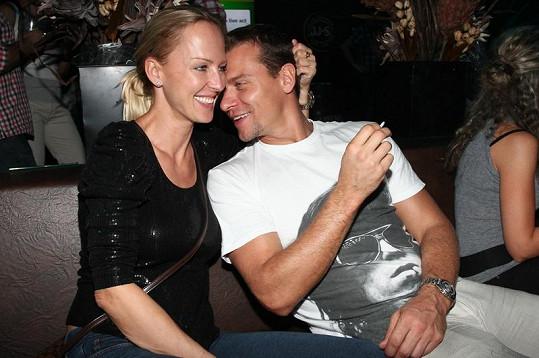 Zuzana s manželem Vlastou Hájkem.