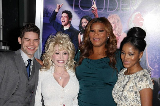 Queen Latifah s Dolly Parton, Jeremym Jordanem a Keke Palmer.
