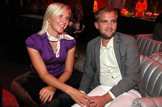 Libor Bouček s partnerkou