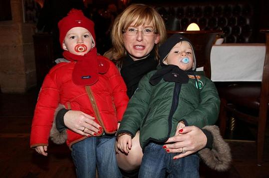 Štěpánka Duchková zaskočila i se svými dvojčaty.
