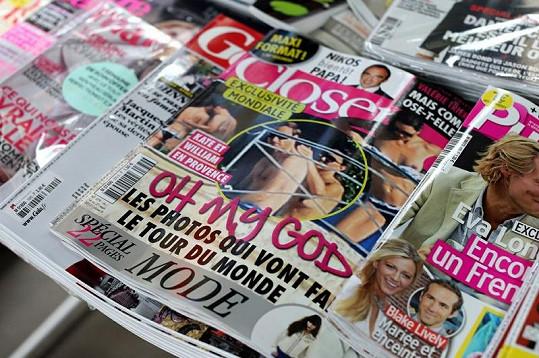 Catherine na obálce magazínu.