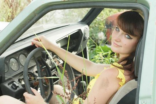 Patricie během natáčení klipu.