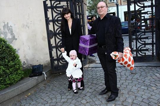 Petr Janda s manželkou a dcerou