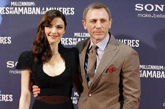 Rachel Weisz s manželem Danielem Craigem.