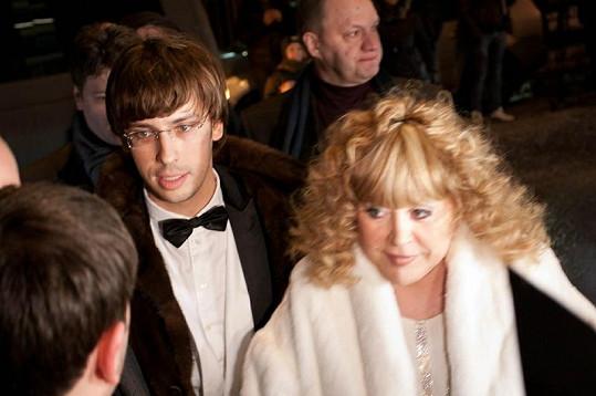 Alla Pugačova s manželem Maximem Galkinem.