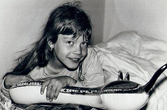 Mariina dcera Květoslava v pěti letech.