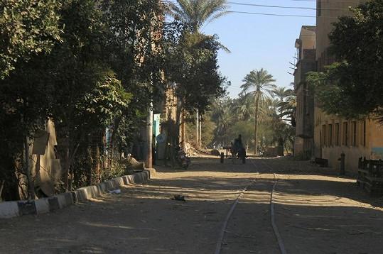 Poklidné uličky v Egyptě.