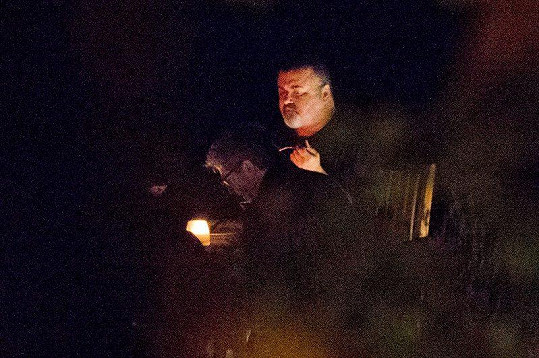 George Michael na fotografii z letošního září. Paparazzi jej zastihli na večeři v Oxfordshire.