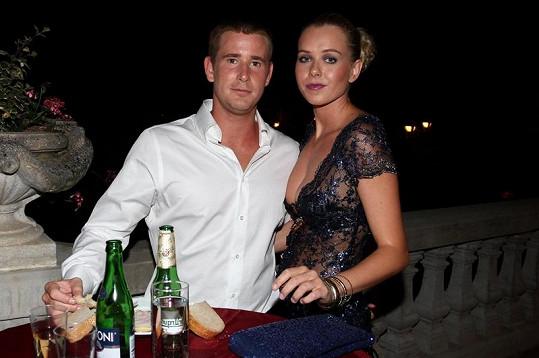 Veronika Machová s přítelem Romanem Červenkou.