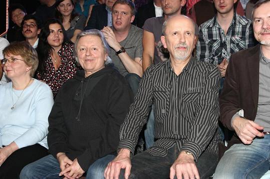 Václav Neckář se v publiku náramně bavil.