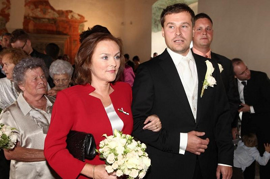 Jaroslav Vít s maminkou.