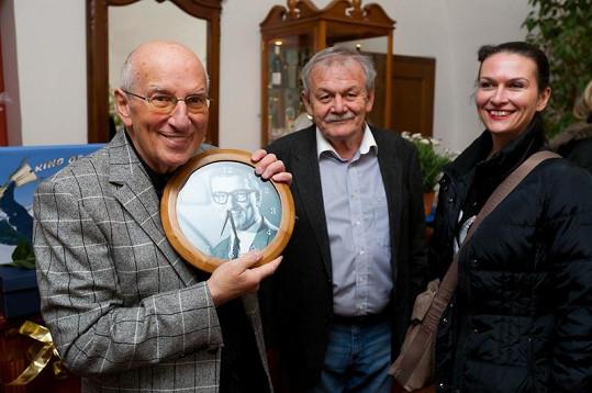 Poblahopřát přišel i Karel Šíp s manželkou.