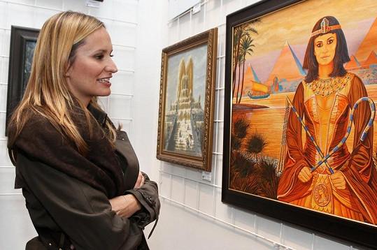 Absolonová obdivovala, jakou si dal malíř s obrazem práci.