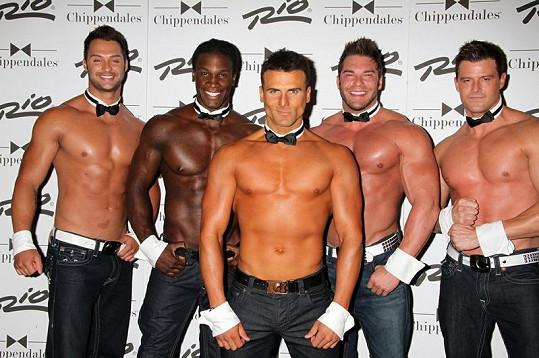 Jeremy se striptérskou skupinou Chippendales.