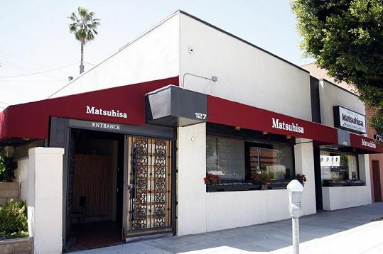 Sushi bar Matsuhisa se stal místem, kde slavila osmatřicátiny Victoria Beckham.