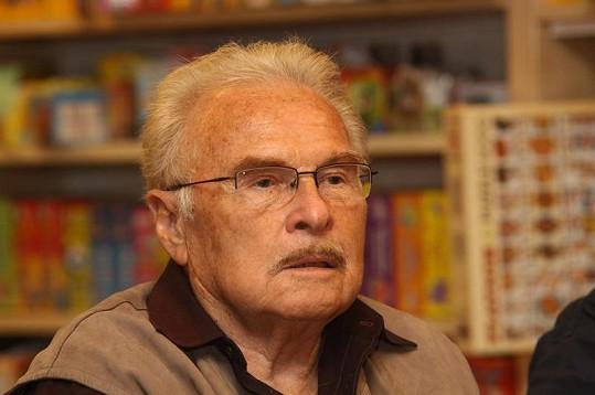 Akci přišel podpořit i penzista Luděk Munzar, který už se na veřejnosti často neobjevuje.