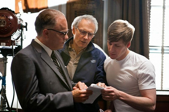 Leonardo, režisér Clint Eastwood a Dustin Lance Black.