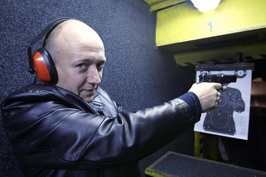 Robert Jašków je podle svých slov dobrý střelec.