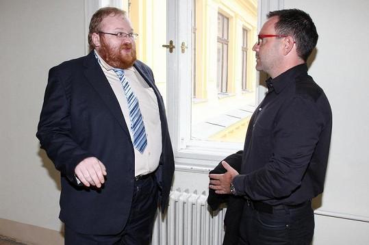 Červín se svým advokátem Petrem Svobodou.