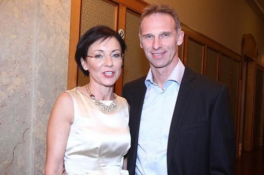 Dominik Hašek s Líbou Šmuclerovou před půl rokem.