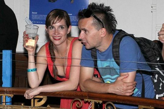 Hana s přítelem, když jsme je spolu viděli poprvé na karlovarském festivalu.