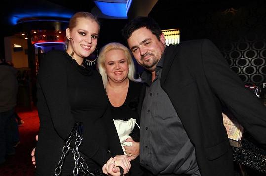 Ornella s maminkou a Pavlem Novotným.