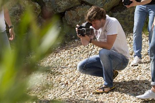 Fotograf Pýcha v akci.
