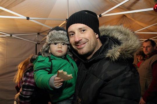 Petr Vágner se synem Samuelem Maxem.