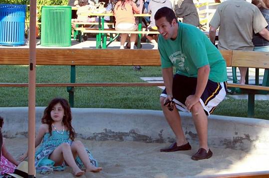 Sandler si užil příjemný den se svou rodinou.