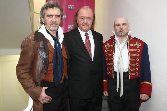 František Janeček s Pepou Štágrem a Davidem Uličníkem.
