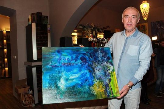 Výtěžek z prodeje tohoto obrazu věnuje šaman na charitu.