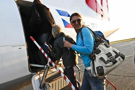 Mahulena na Slovensko letěla speciálním letadalem.