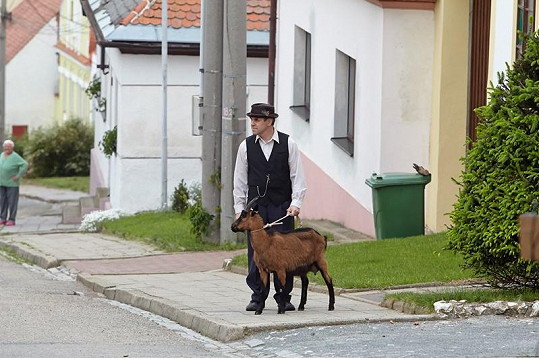 Miroslav Táborský se svou seriálovou kolegyní.
